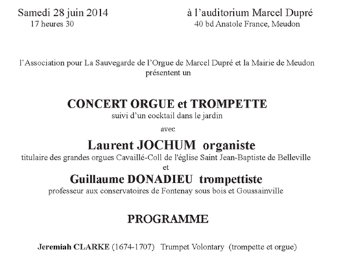 Prochain concert
